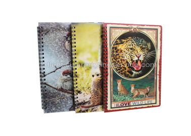 Alat Tulis Diary A4 Size Notebooks 3D Lenticular Cover Of Famous Views
