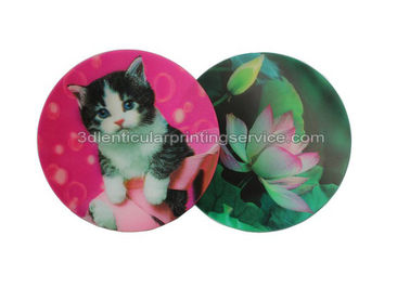 Cina Customized Flip Effect 3D Lenticular Placemats Coasters Waterproof For House Decoration pabrik