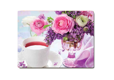 Decorative Flower PET Printing 3D Lenticular Plastic Table Mats Offset Printing